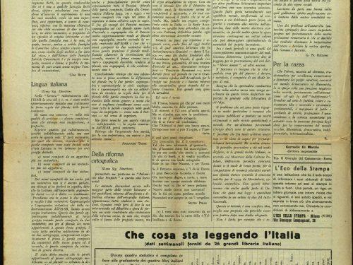 """sfogliando vecchi giornali: """"Meridiano di Roma"""" (Betti, Consiglio, Savinio, Céline, gli ebrei e altro ancora)"""